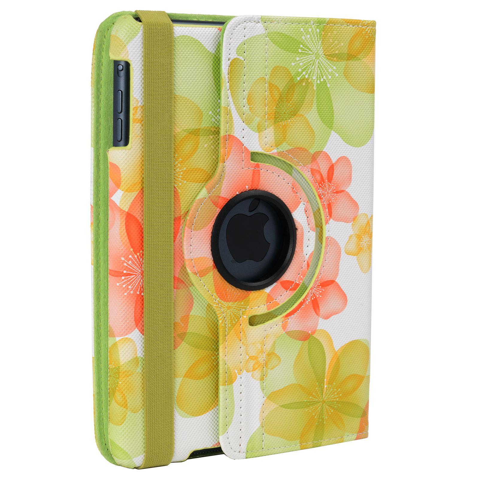 Para-Apple-IPAD-Mini-1-2-3-Smart-Funda-de-Piel-Flores-Rotacion-360 miniatura 22