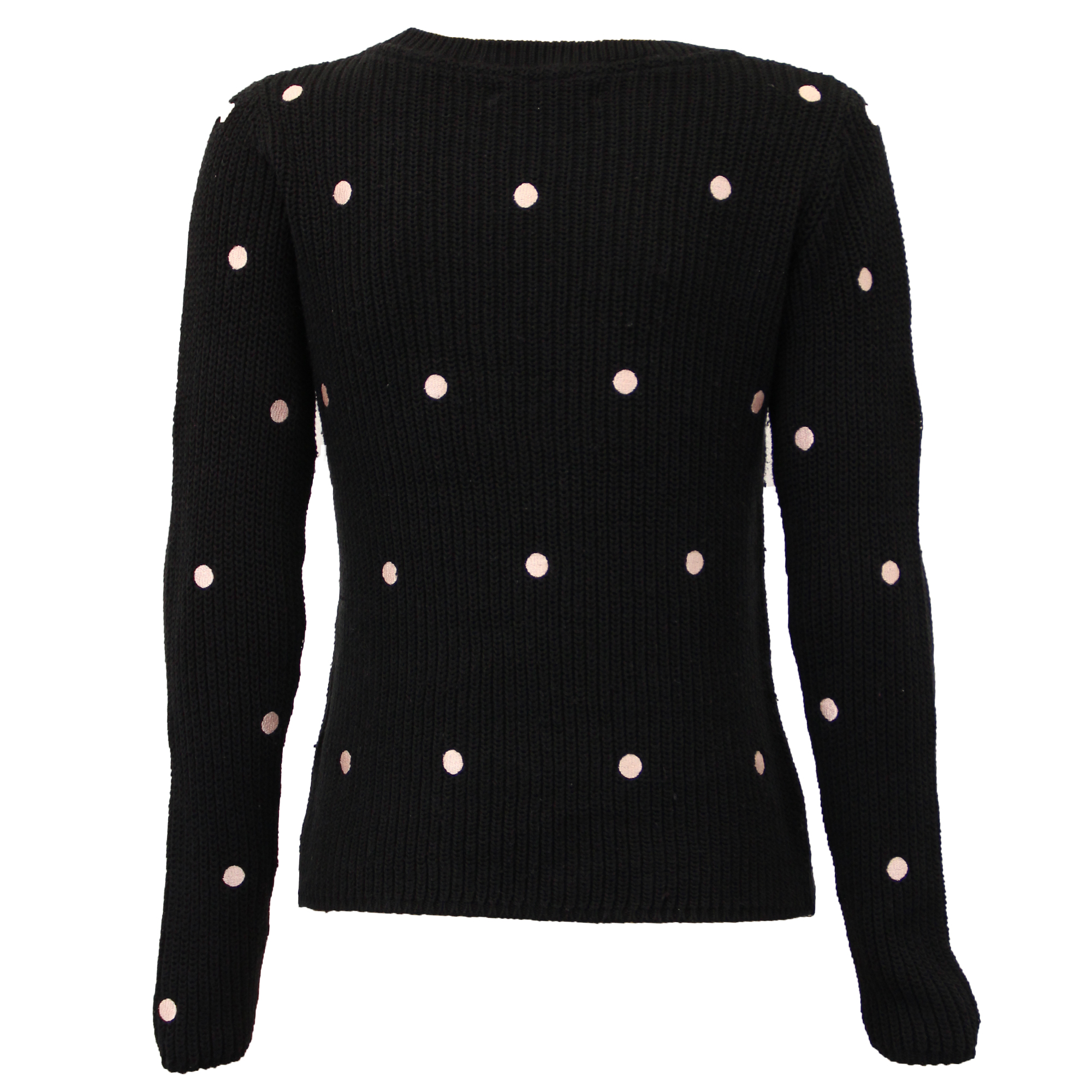 Ladies Jumpers Womens Knitted Top Pullover Sweater Polka Dot Amara ...