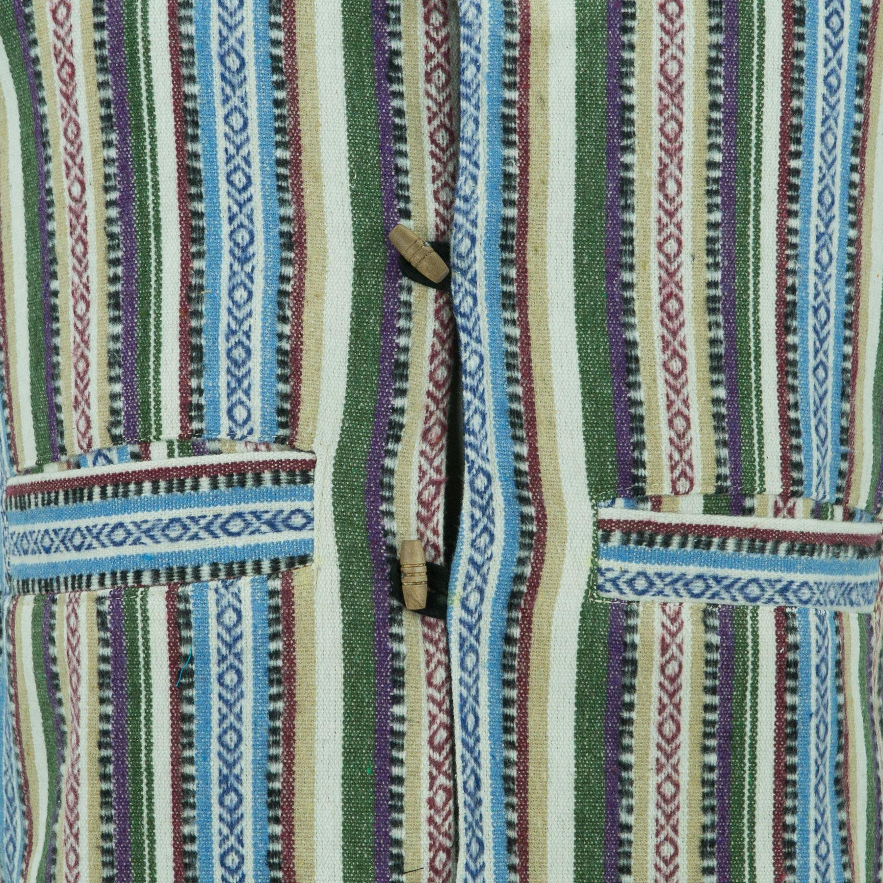 Chaleco-Algodon-Hombre-Perchado-Hippie-Boho-Traje-para-Hombre-Mujer miniatura 6