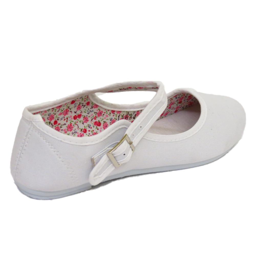 White Womens Shoes Ballerina Pumps