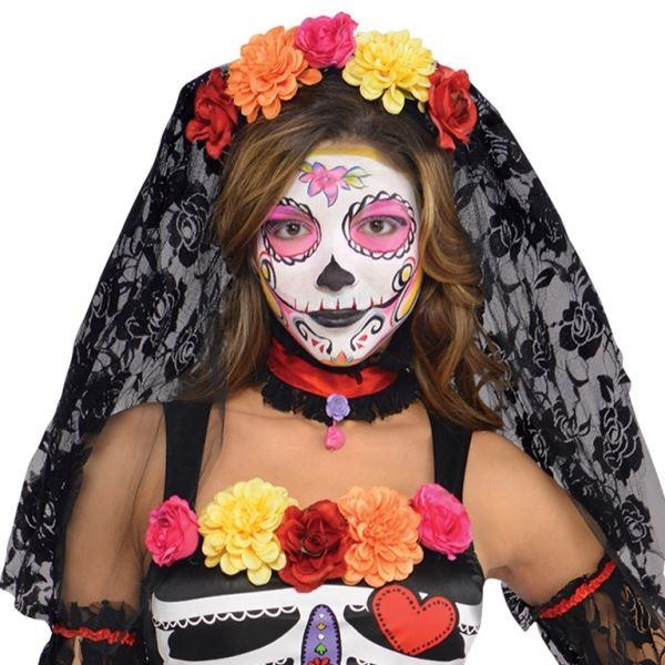 Tag der Toten Zuckerschädel MEXIKANISCH PARTY KOSTÜM KLEID OUTFIT | eBay