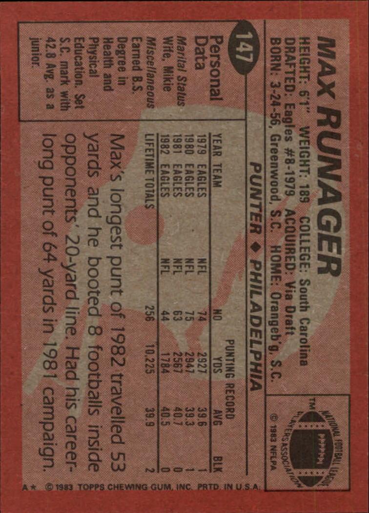 1983-Topps-Football-Card-Pick-147-396 thumbnail 3