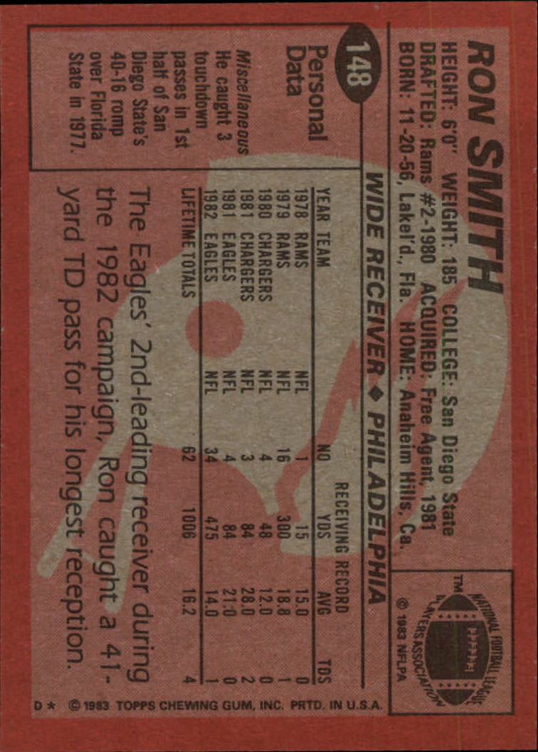 1983-Topps-Football-Card-Pick-147-396 thumbnail 5