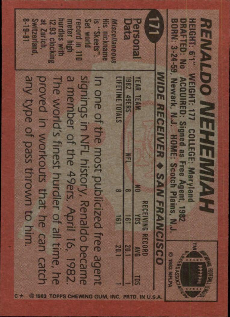 1983-Topps-Football-Card-Pick-147-396 thumbnail 41