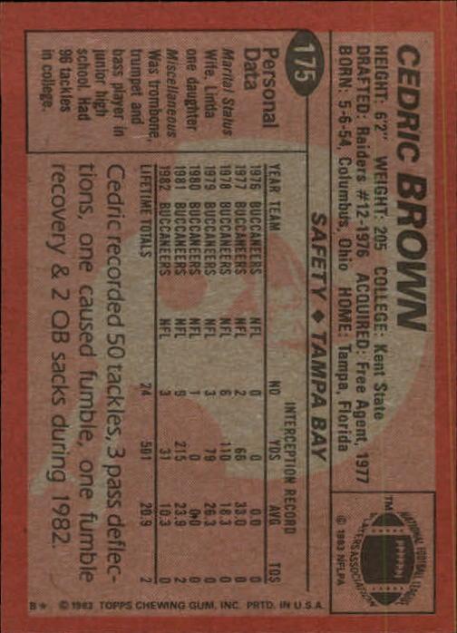 1983-Topps-Football-Card-Pick-147-396 thumbnail 47