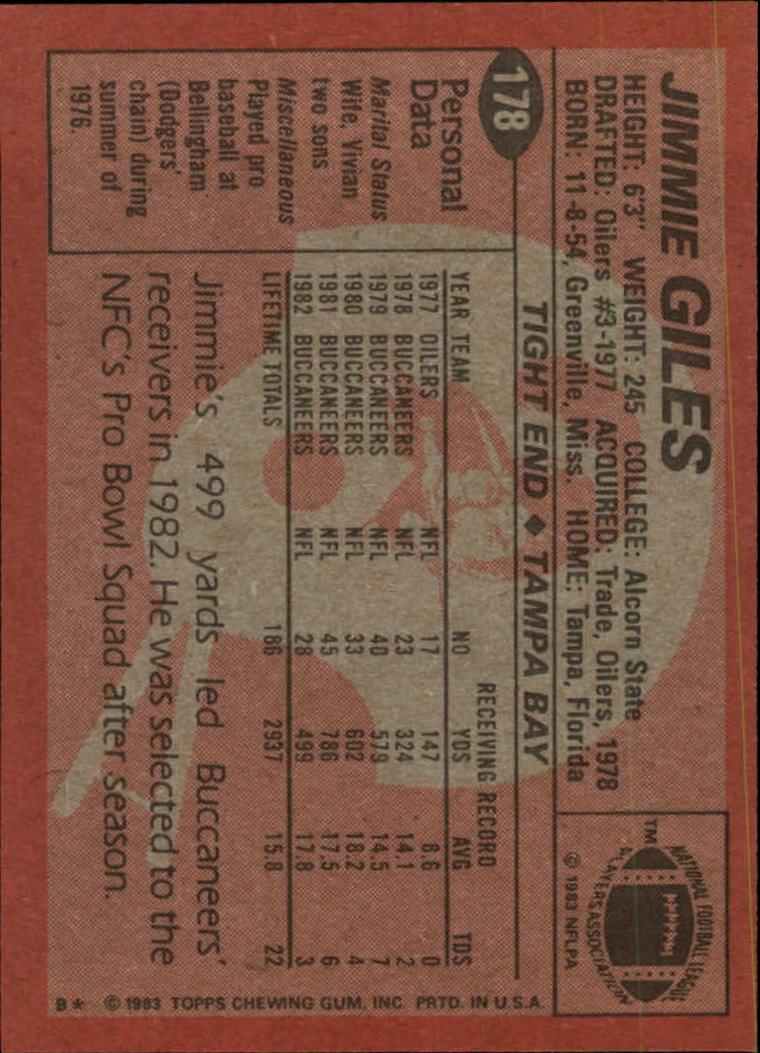 1983-Topps-Football-Card-Pick-147-396 thumbnail 53