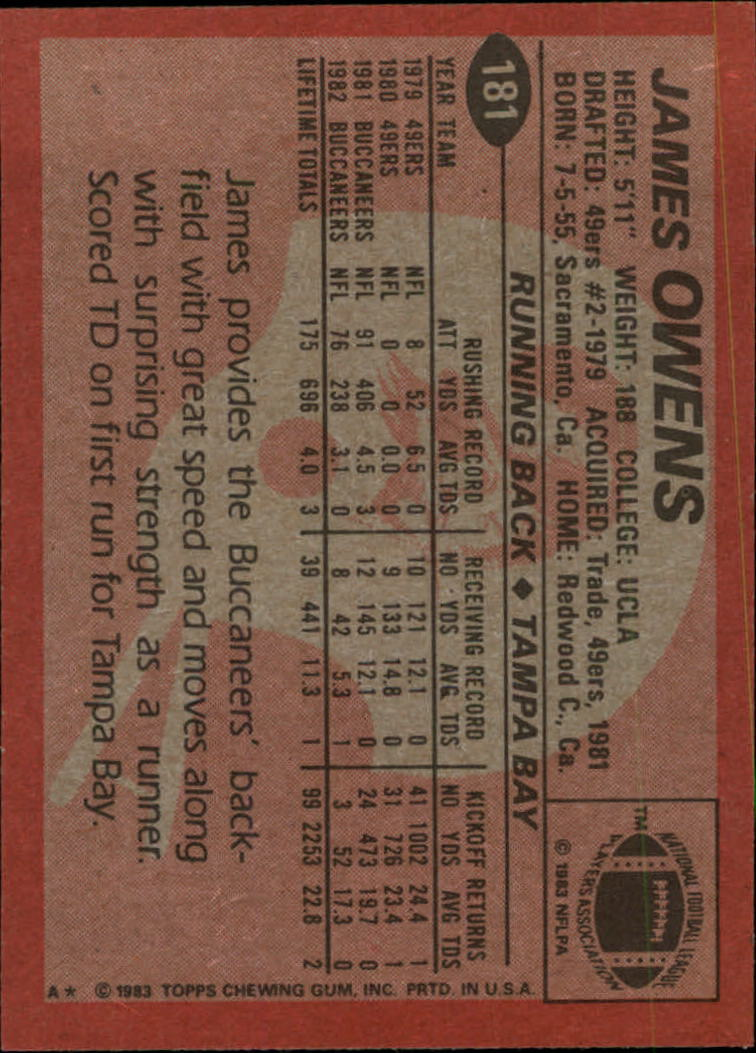 1983-Topps-Football-Card-Pick-147-396 thumbnail 59