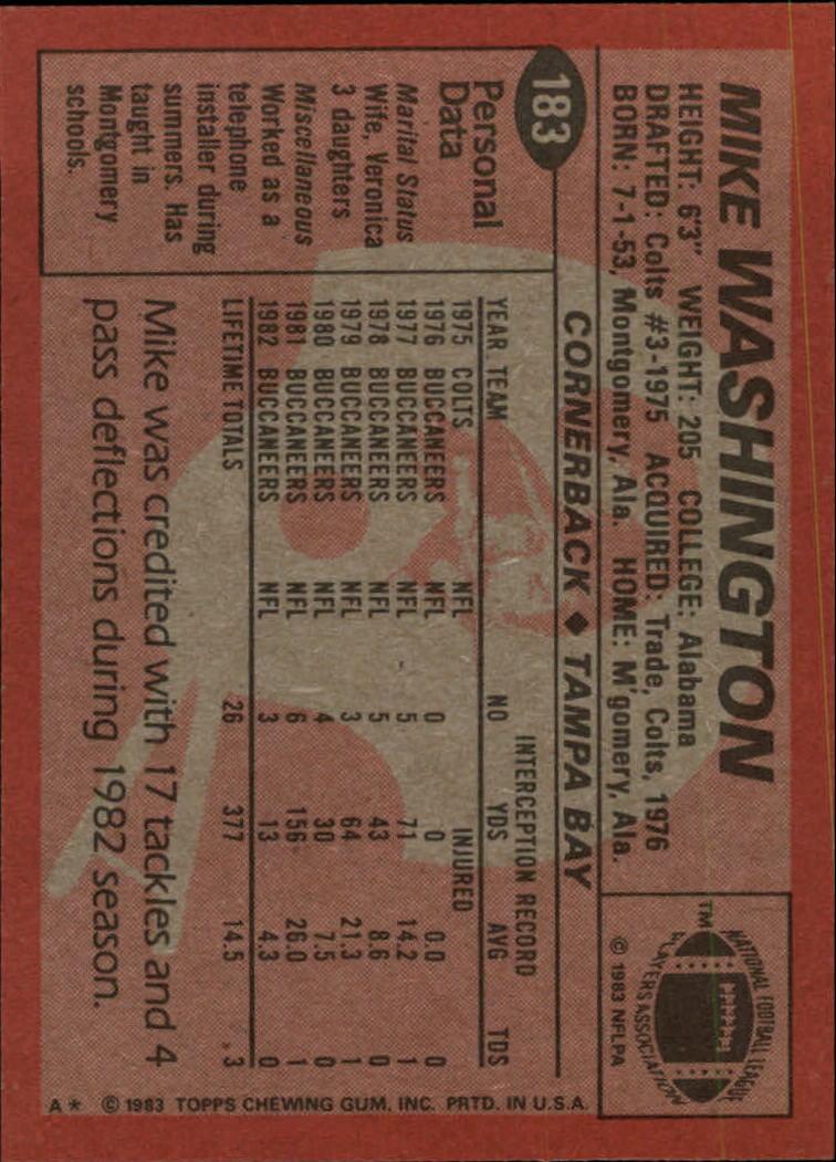 1983-Topps-Football-Card-Pick-147-396 thumbnail 61