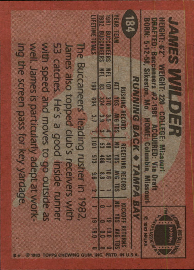 1983-Topps-Football-Card-Pick-147-396 thumbnail 63