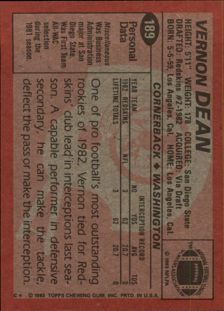 1983-Topps-Football-Card-Pick-147-396 thumbnail 69