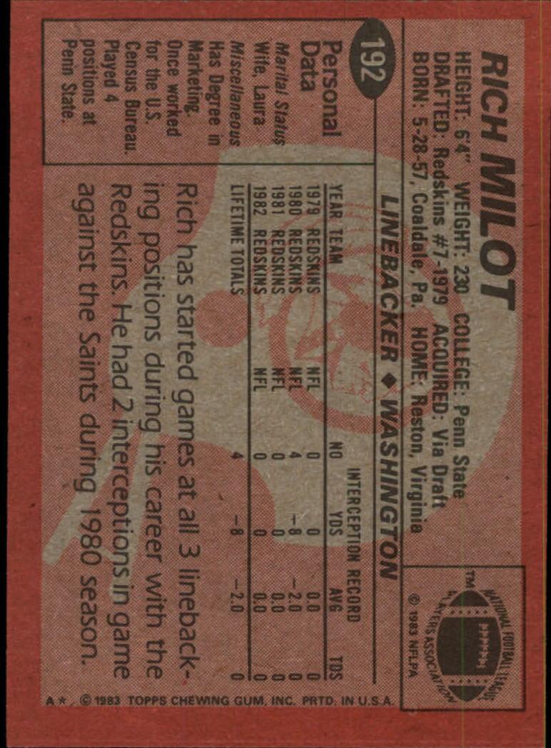 1983-Topps-Football-Card-Pick-147-396 thumbnail 71
