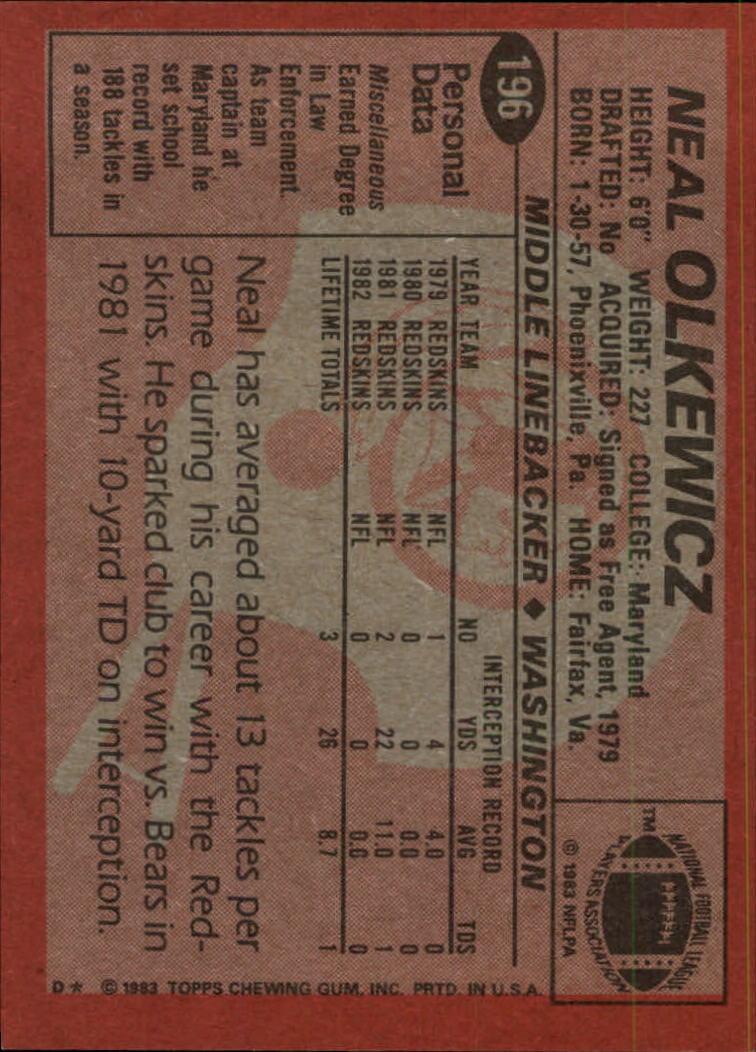 1983-Topps-Football-Card-Pick-147-396 thumbnail 77