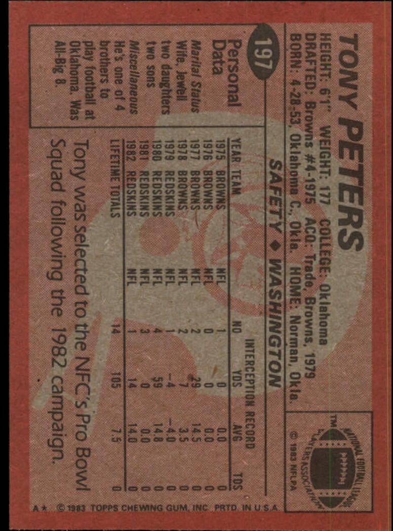 1983-Topps-Football-Card-Pick-147-396 thumbnail 79