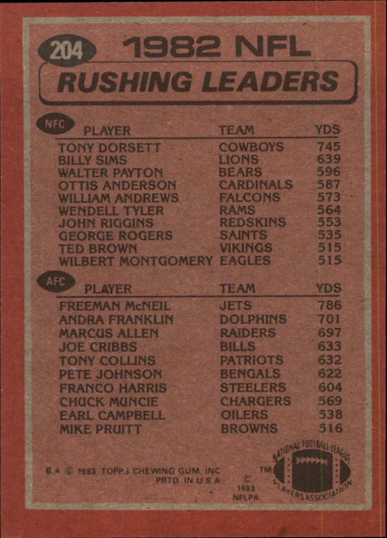 1983-Topps-Football-Card-Pick-147-396 thumbnail 89