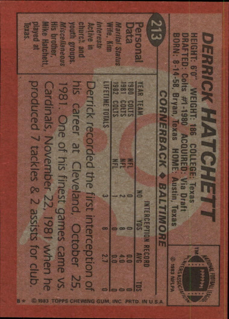 1983-Topps-Football-Card-Pick-147-396 thumbnail 107