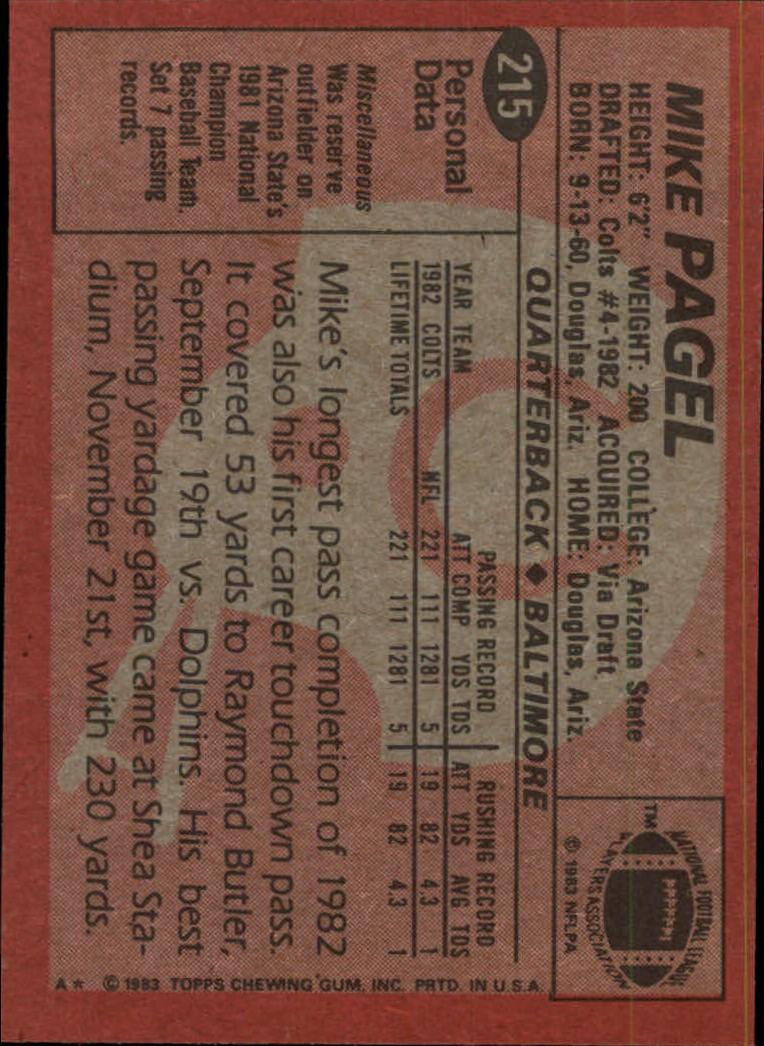 1983-Topps-Football-Card-Pick-147-396 thumbnail 109
