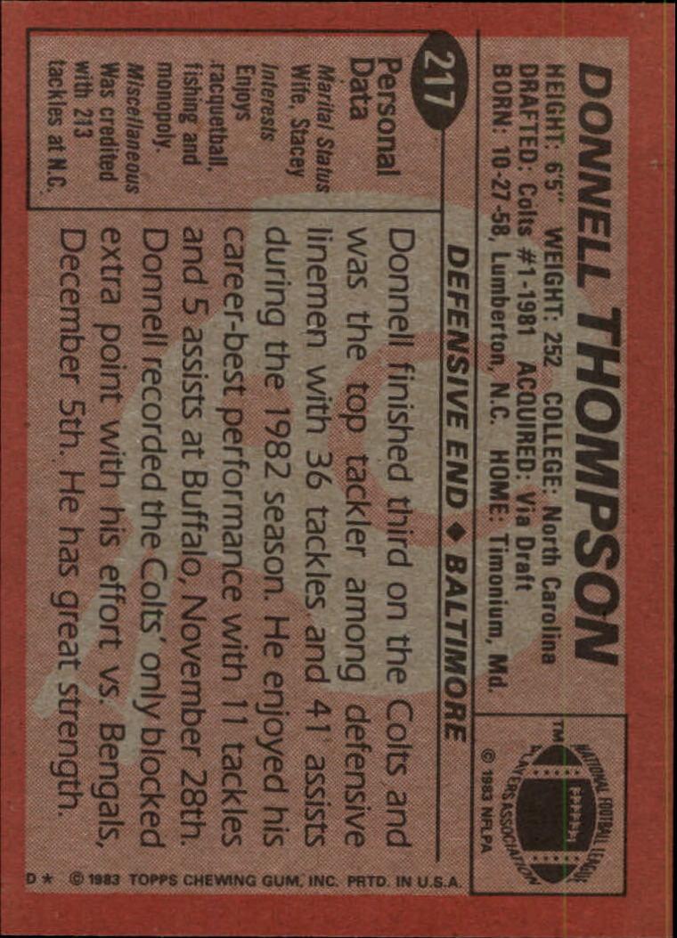 1983-Topps-Football-Card-Pick-147-396 thumbnail 113