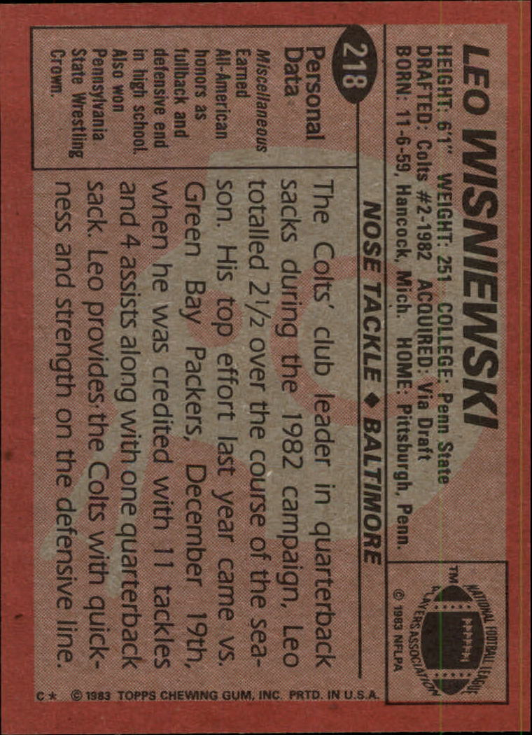 1983-Topps-Football-Card-Pick-147-396 thumbnail 115