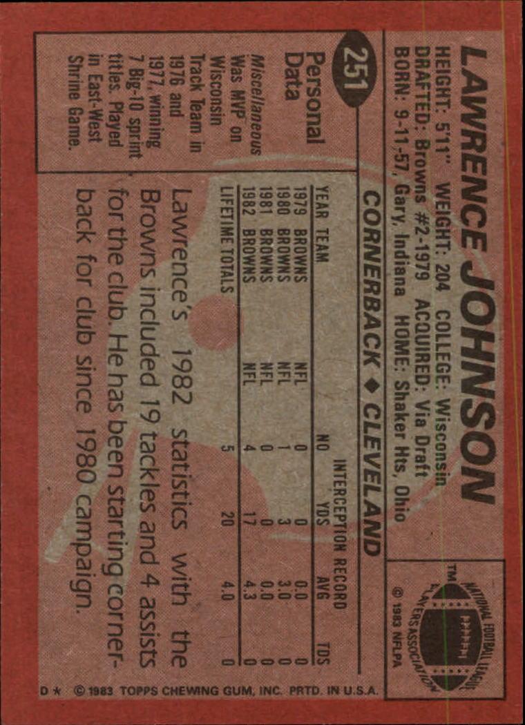 1983-Topps-Football-Card-Pick-147-396 thumbnail 139