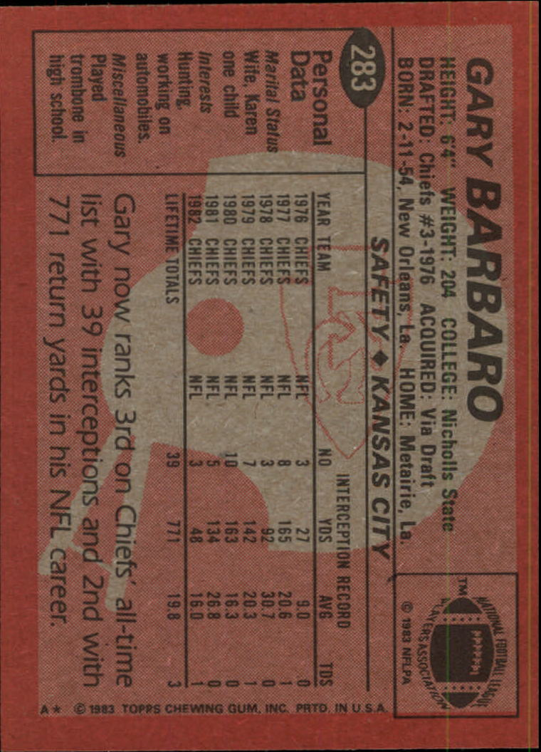 1983-Topps-Football-Card-Pick-147-396 thumbnail 171