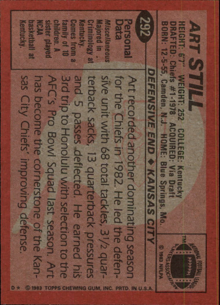 1983-Topps-Football-Card-Pick-147-396 thumbnail 187