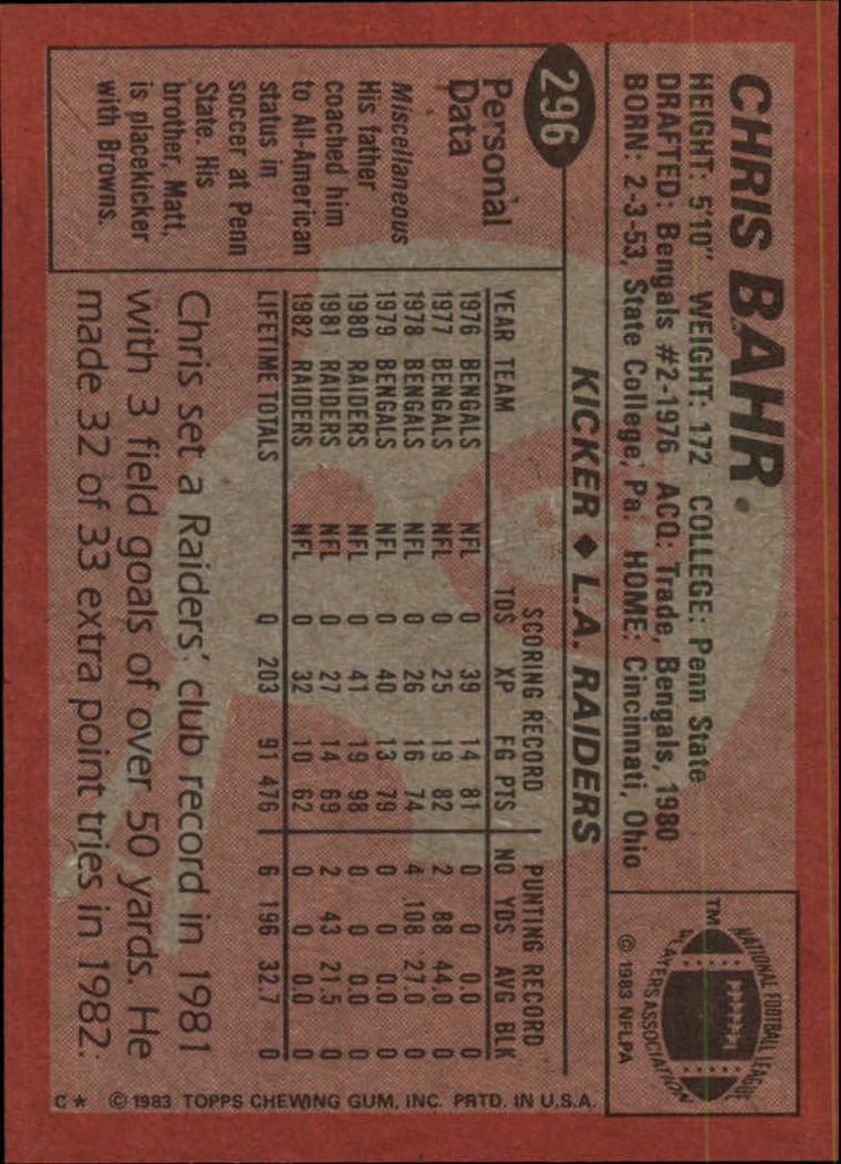 1983-Topps-Football-Card-Pick-147-396 thumbnail 191