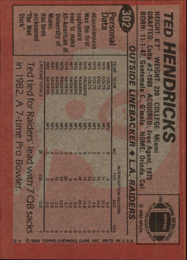 1983-Topps-Football-Card-Pick-147-396 thumbnail 195