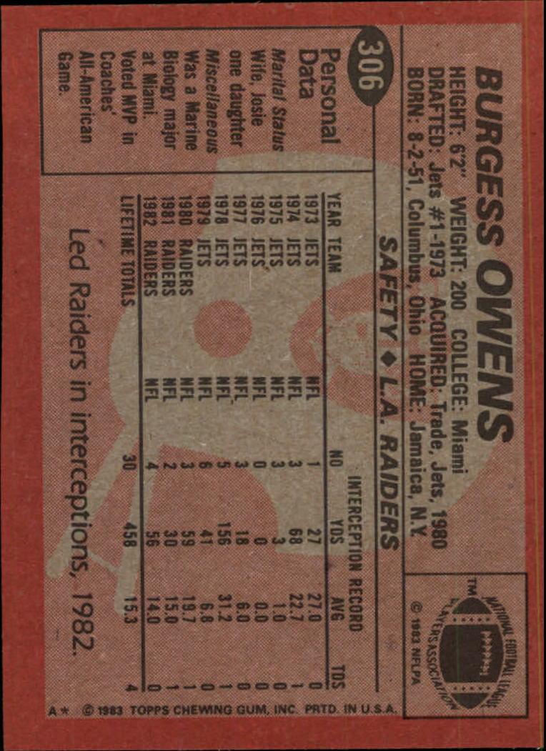 1983-Topps-Football-Card-Pick-147-396 thumbnail 203