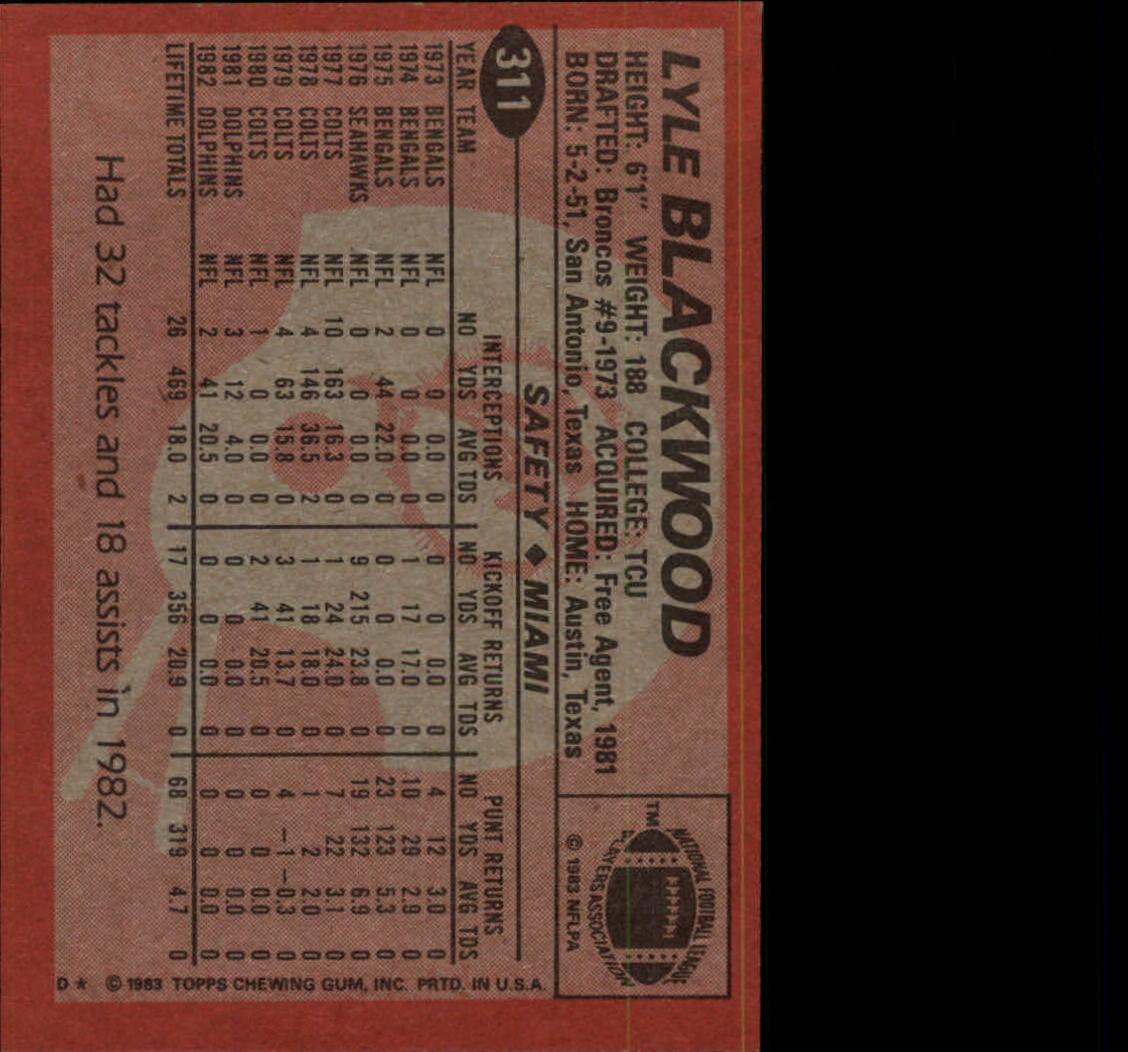 1983-Topps-Football-Card-Pick-147-396 thumbnail 213