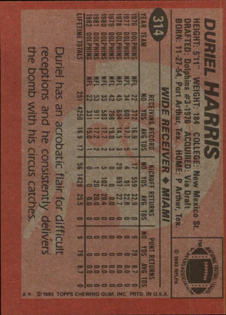 1983-Topps-Football-Card-Pick-147-396 thumbnail 217