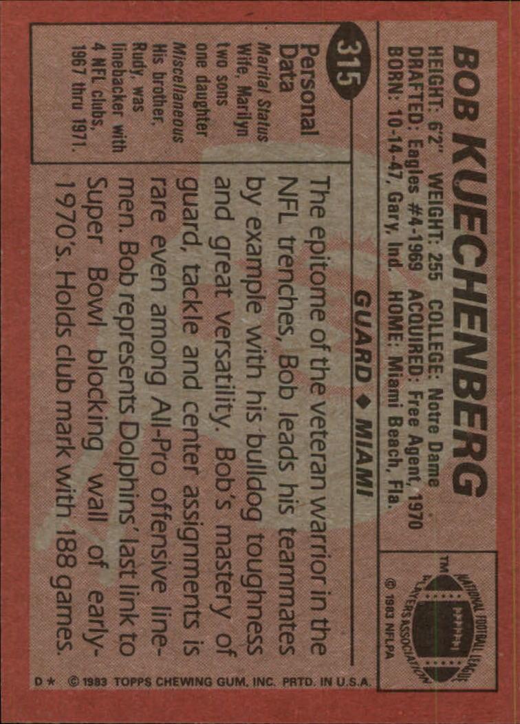 1983-Topps-Football-Card-Pick-147-396 thumbnail 219
