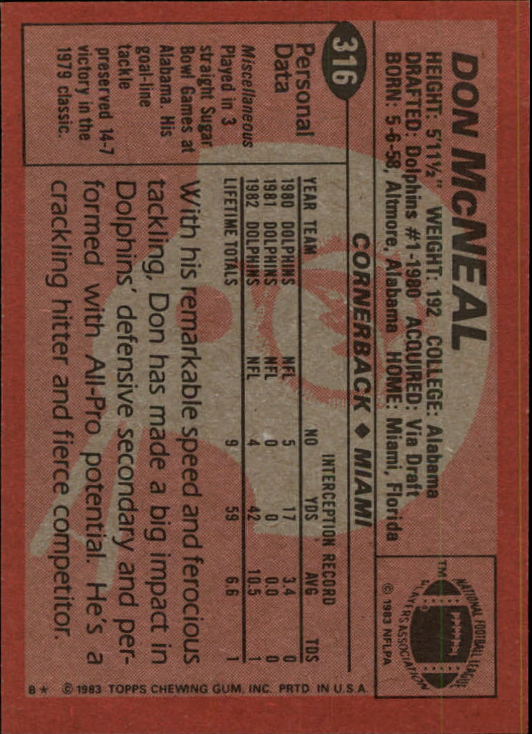 1983-Topps-Football-Card-Pick-147-396 thumbnail 221