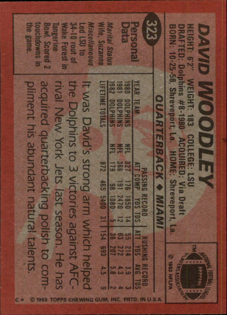 1983-Topps-Football-Card-Pick-147-396 thumbnail 233