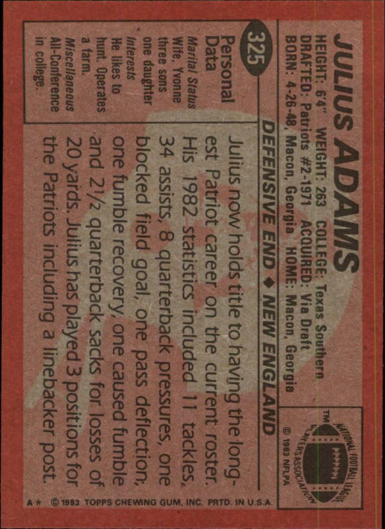 1983-Topps-Football-Card-Pick-147-396 thumbnail 237