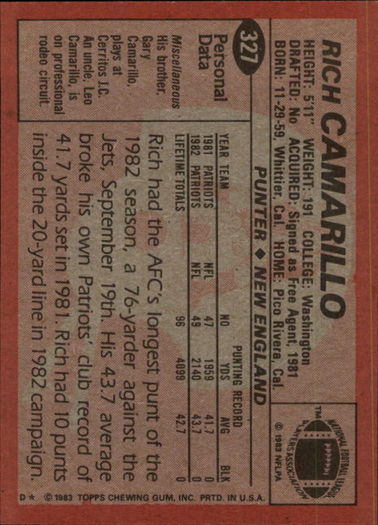 1983-Topps-Football-Card-Pick-147-396 thumbnail 239