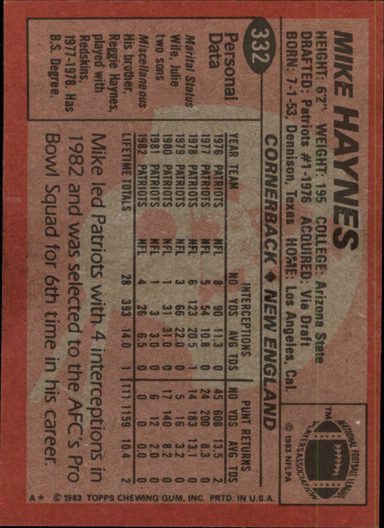 1983-Topps-Football-Card-Pick-147-396 thumbnail 241