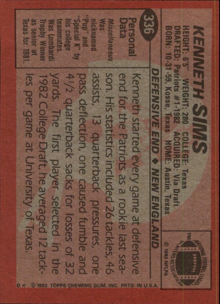 1983-Topps-Football-Card-Pick-147-396 thumbnail 245