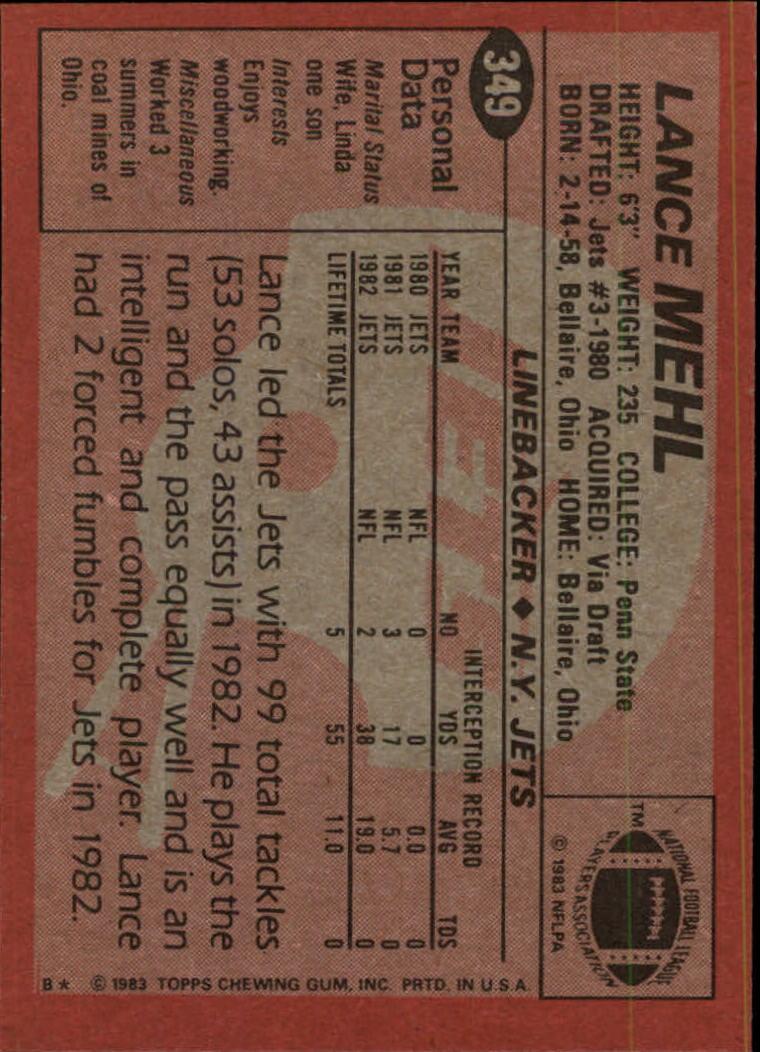 1983-Topps-Football-Card-Pick-147-396 thumbnail 269