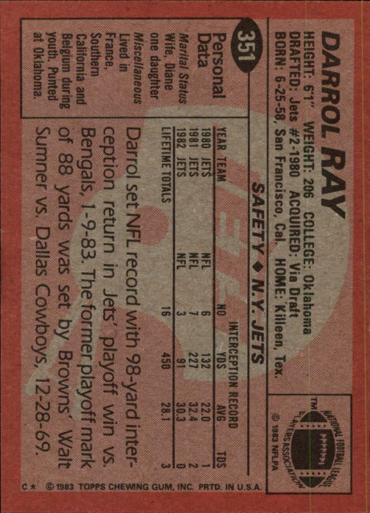 1983-Topps-Football-Card-Pick-147-396 thumbnail 273