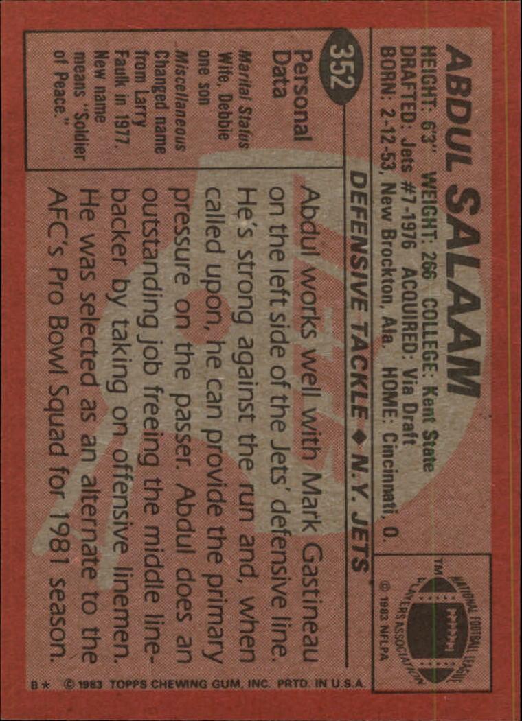 1983-Topps-Football-Card-Pick-147-396 thumbnail 275
