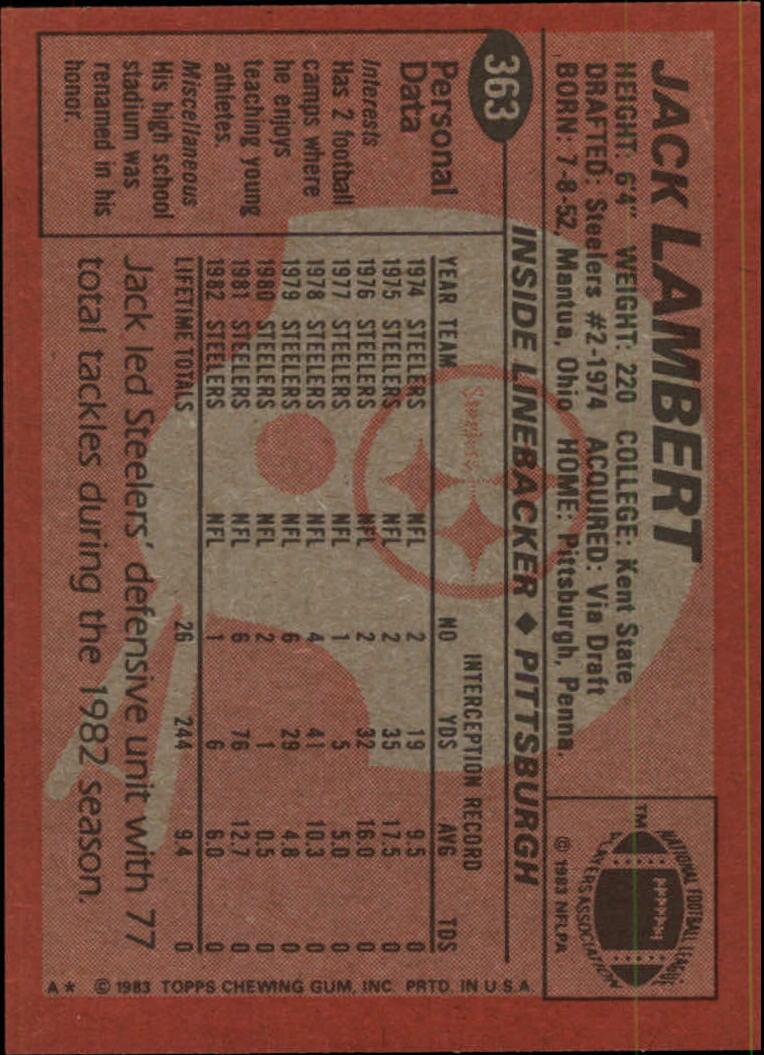 1983-Topps-Football-Card-Pick-147-396 thumbnail 287