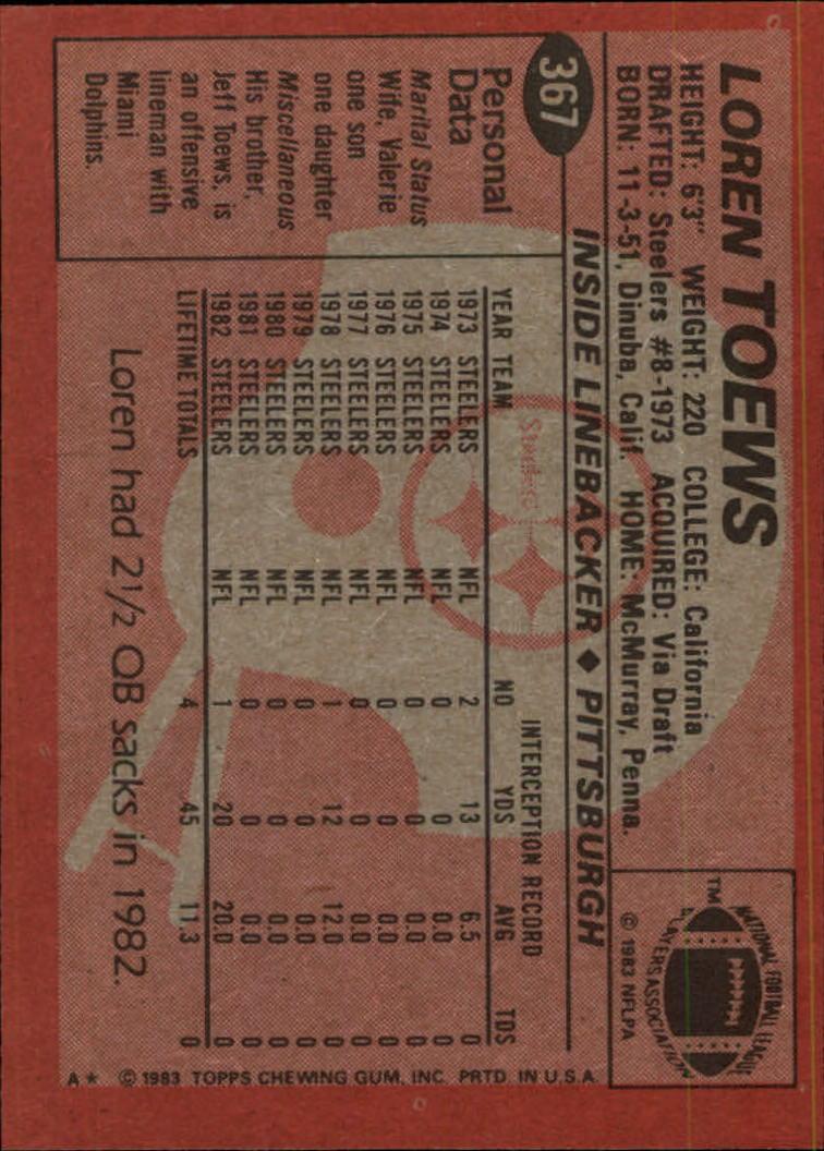 1983-Topps-Football-Card-Pick-147-396 thumbnail 291