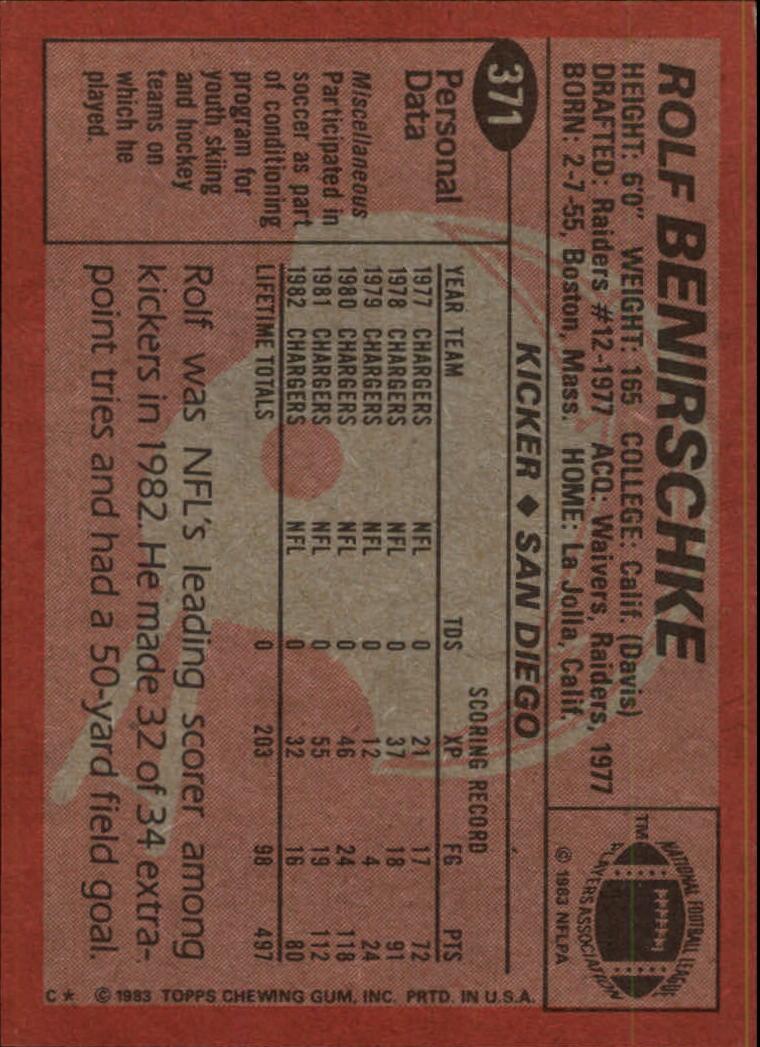 1983-Topps-Football-Card-Pick-147-396 thumbnail 299