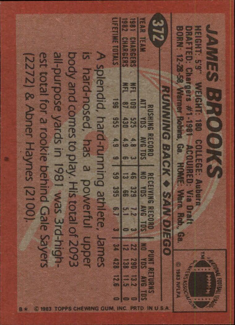 1983-Topps-Football-Card-Pick-147-396 thumbnail 301