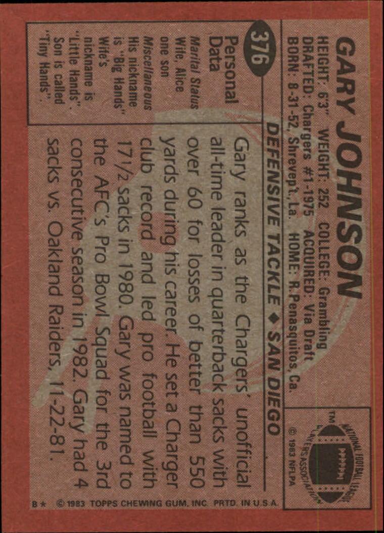 1983-Topps-Football-Card-Pick-147-396 thumbnail 307