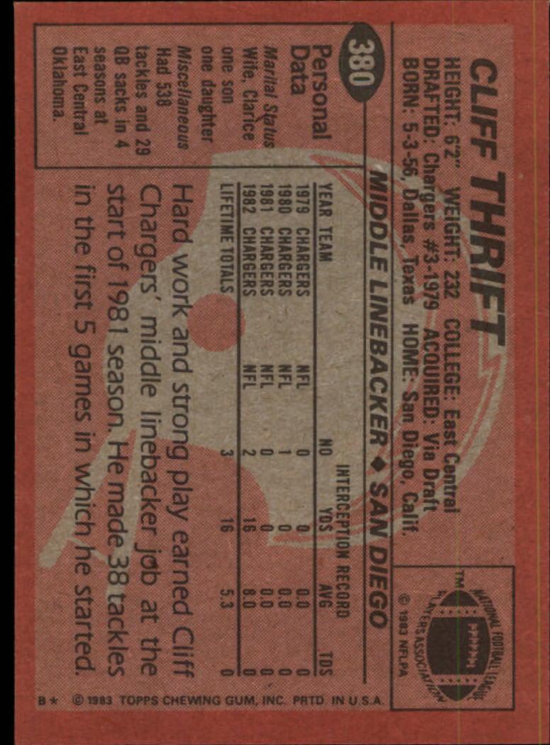 1983-Topps-Football-Card-Pick-147-396 thumbnail 313
