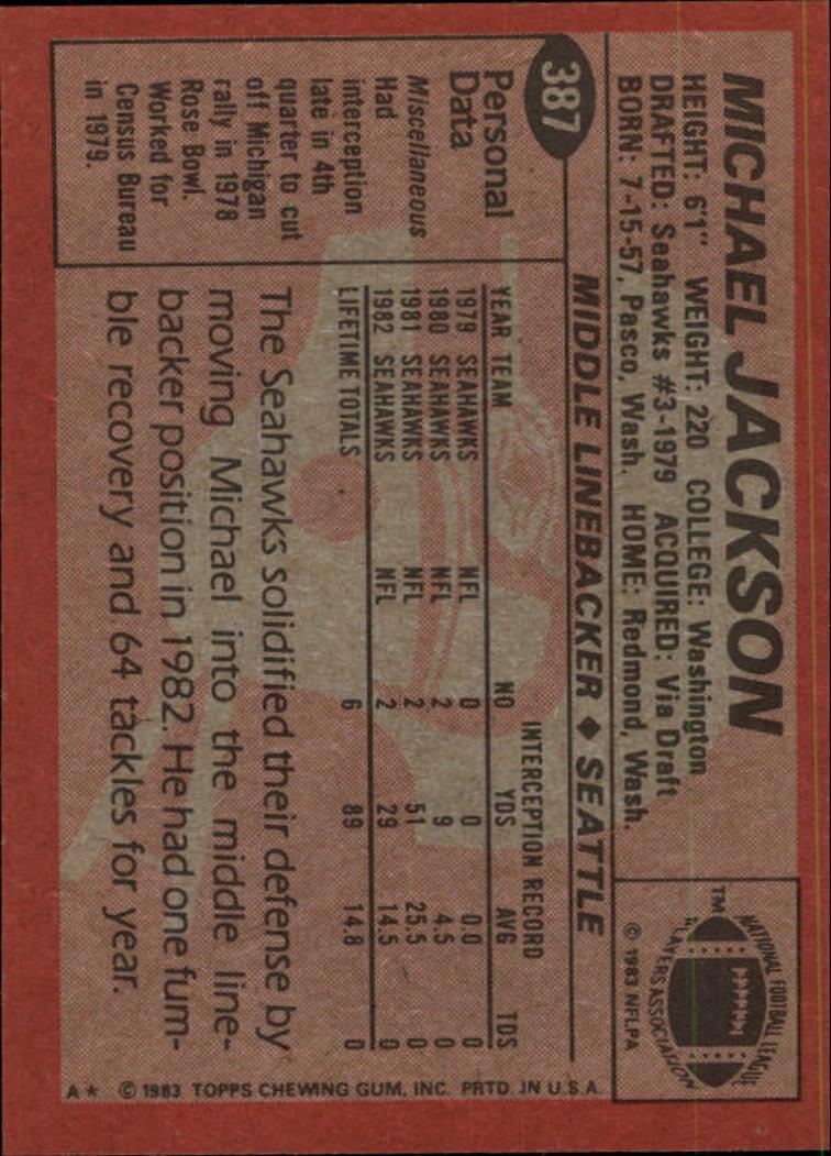 1983-Topps-Football-Card-Pick-147-396 thumbnail 321