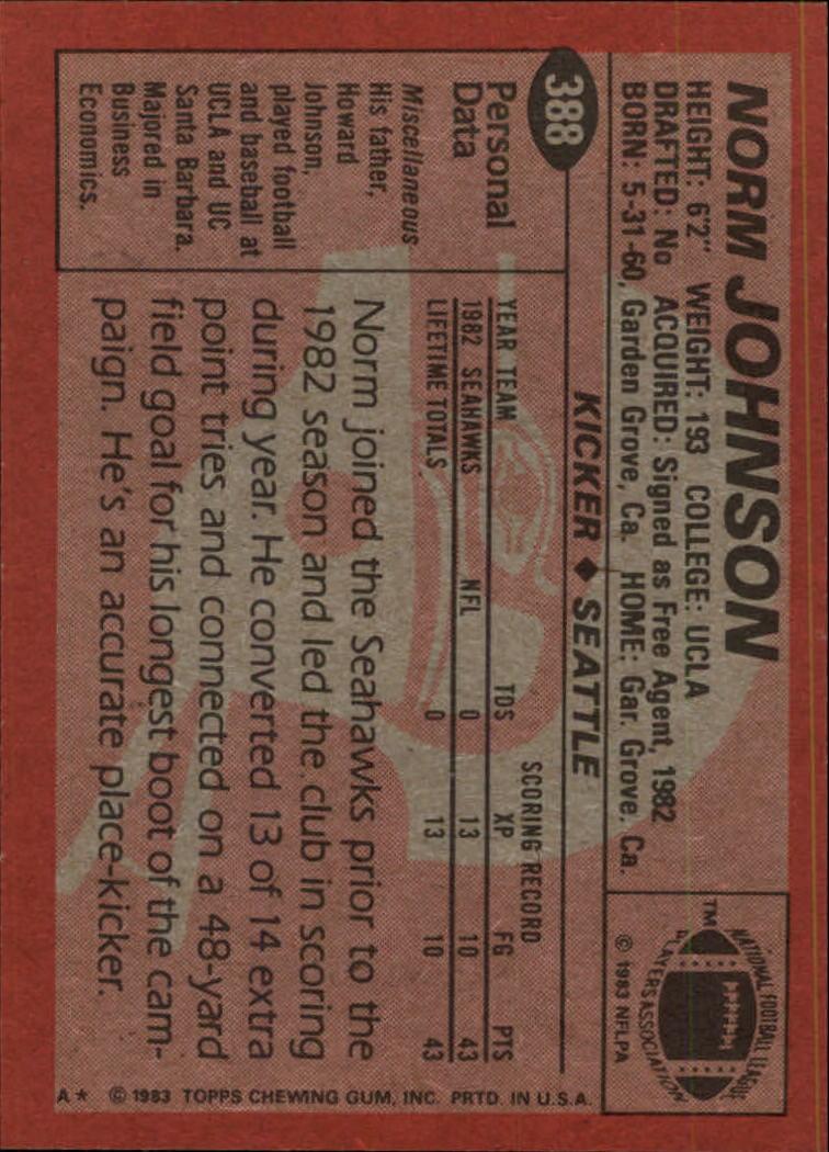 1983-Topps-Football-Card-Pick-147-396 thumbnail 323