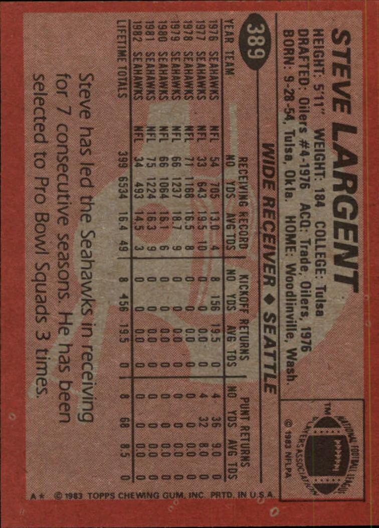 1983-Topps-Football-Card-Pick-147-396 thumbnail 325