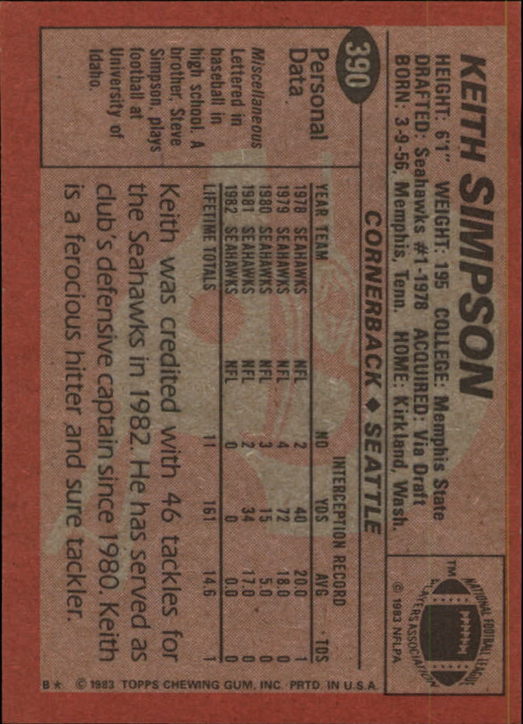 1983-Topps-Football-Card-Pick-147-396 thumbnail 327